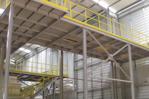 Estrutura metálica para armazém