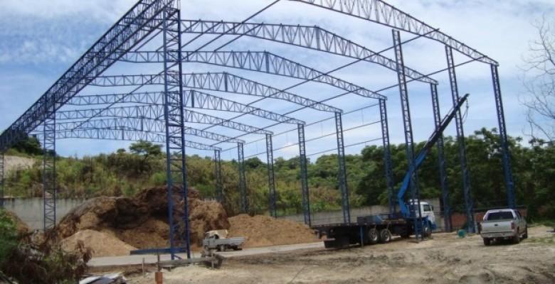 Galpão de estrutura metalica